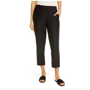 NWT Eileen Fisher Pull On Ankle Pants Black XXS